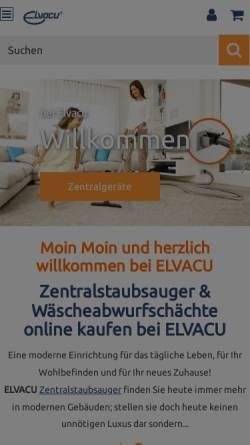 Vorschau der mobilen Webseite www.elvacu.de, GVT Gesellschaft für Vacuumtechnik mbH
