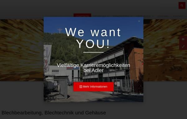 Vorschau von adler-blech.de, Adler AG