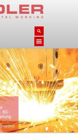 Vorschau der mobilen Webseite adler-blech.de, Adler AG