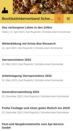 Vorschau der mobilen Webseite www.buckfastimker.ch, Buckfastimkerverband Schweiz