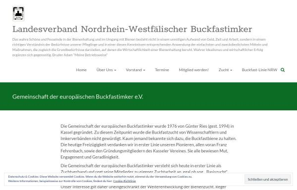 Vorschau von gdeb.eu, Gemeinschaft der europäischen Buckfastimker