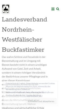 Vorschau der mobilen Webseite gdeb.eu, Gemeinschaft der europäischen Buckfastimker