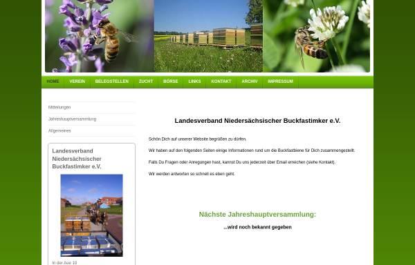 Vorschau von www.buckfast-niedersachsen.de, Landesverband der niedersächsischen Buckfastimker e.V.