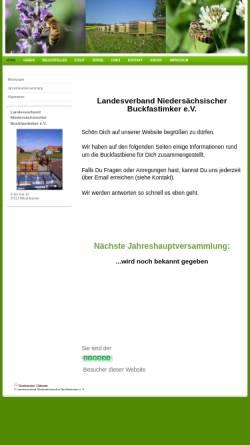 Vorschau der mobilen Webseite www.buckfast-niedersachsen.de, Landesverband der niedersächsischen Buckfastimker e.V.