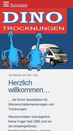 Vorschau der mobilen Webseite dino-trocknungen.de, DINO-Trocknungen und Bodenbeläge GmbH