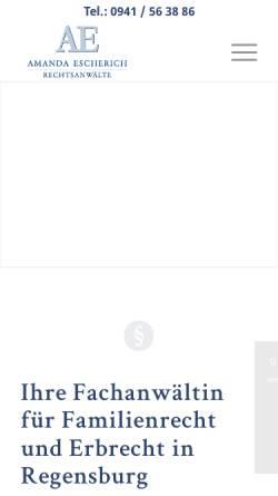 Vorschau der mobilen Webseite www.kanzlei-escherich.de, Kanzlei Escherich