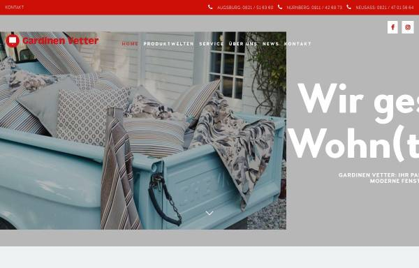 Vorschau von www.gardinenvetter.de, Gardinen Vetter
