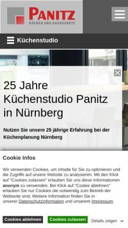 Vorschau der mobilen Webseite www.kuechen-panitz.de, Panitz Küchen und Hausgeräte GmbH