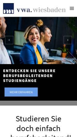 Vorschau der mobilen Webseite www.bwl-abendstudium.de, VWAs in Hessen