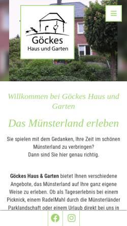 Vorschau der mobilen Webseite www.agentur-mehr-muensterland.de, Agentur Mehr Münsterland (OMM), Inhaberin Bernadette Göcke