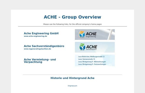 Vorschau von www.ache.de, Ache Engineering GmbH