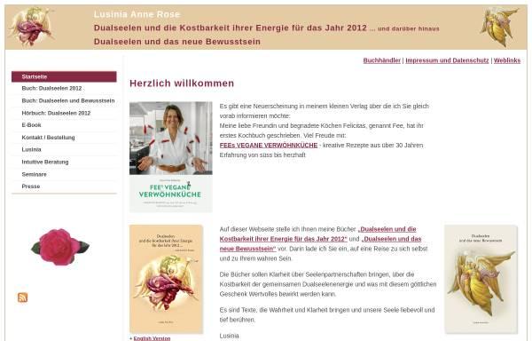 Vorschau von www.lusinia.de, Lusinia-Verlag, Natalie Auburger