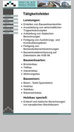 Vorschau der mobilen Webseite statik-schmid.de, Schmid, H.-P.