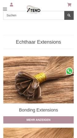 Vorschau der mobilen Webseite www.xtend-your-hair.de, Xtend-your-hair.de, Nicole Fischer