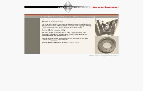 Vorschau von www.mueller-feinmechanik.de, Gerhard Müller GmbH