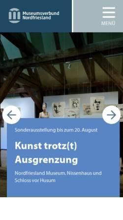 Vorschau der mobilen Webseite www.museumsverbund-nordfriesland.de, Museumsverbund Nordfriesland