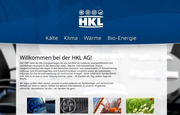 Vorschau von www.hkl-ag.de, HKL Energieanlagen AG