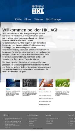 Vorschau der mobilen Webseite www.hkl-ag.de, HKL Energieanlagen AG