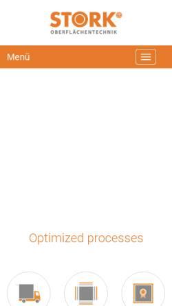 Vorschau der mobilen Webseite www.stork-unternehmensgruppe.de, Hans Stork Betriebsgesellschaft mbH