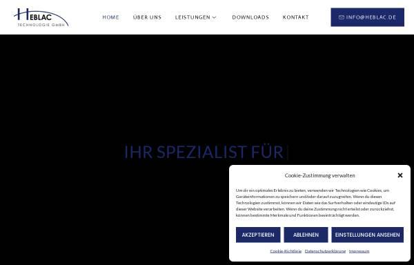 Vorschau von www.heblac.de, Heblac Technologie GmbH