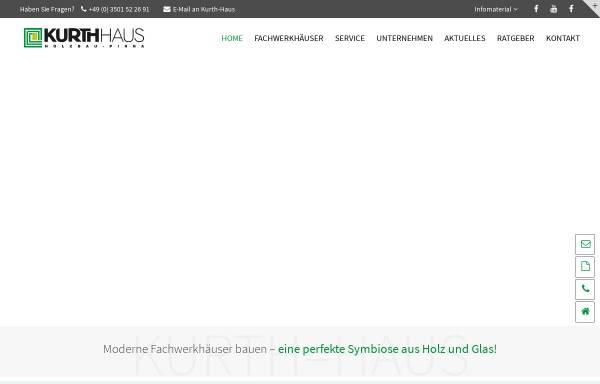 Vorschau von www.holzbau-pirna.de, Holzbau-Montage Kurth, André Kurth