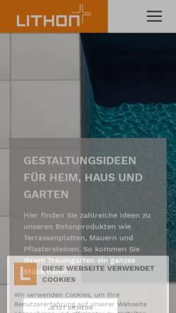Vorschau der mobilen Webseite www.lithonplus.de, Lithonplus GmbH & Co. KG