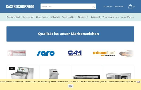 Vorschau von www.gastro-profi.eu, Gastroshop2000 Klaus Remmert
