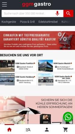 Vorschau der mobilen Webseite www.ggmgastro.de, GGM Gastro Bakür und Inan GbR