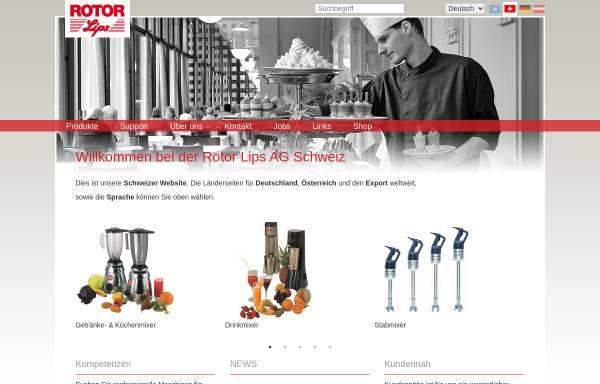 Vorschau von www.rotor-ag.ch, Rotor Lips AG