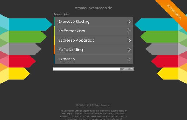 Vorschau von www.presto-exspresso.de, Presto E(x)spresso, Jaquelin Garcia Gonzalez