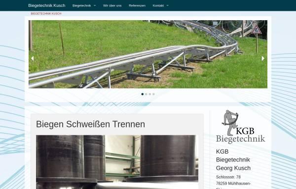 Vorschau von www.biegetechnik-kusch.de, KGB Biegetechnik Georg Kusch