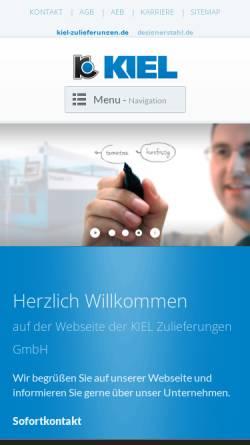 Vorschau der mobilen Webseite www.kiel-zulieferungen.de, KIEL Zulieferungen GmbH