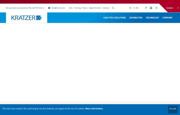 Vorschau von www.kratzer.de, Kratzer GmbH & Co. KG