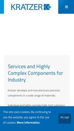Vorschau der mobilen Webseite www.kratzer.de, Kratzer GmbH & Co. KG