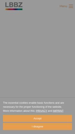 Vorschau der mobilen Webseite www.lbbz.de, LBBZ Lasertechnik GmbH