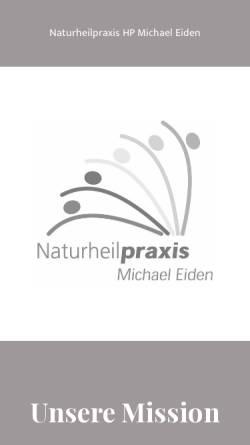Vorschau der mobilen Webseite www.naturpraxiseiden.de, Heilpraktiker Michael Eiden