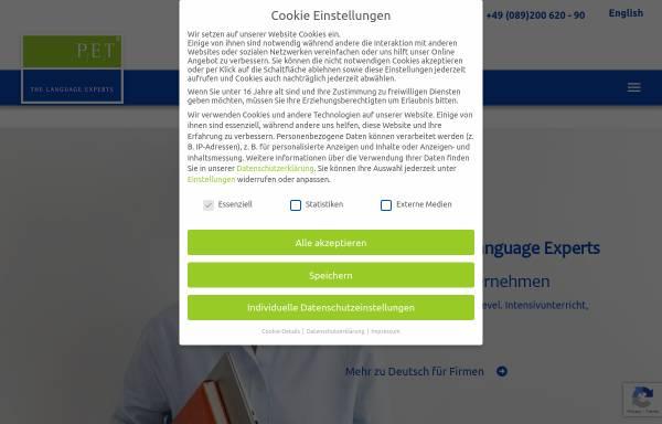 Vorschau von www.pet-sprachen.de, PET Sprachen