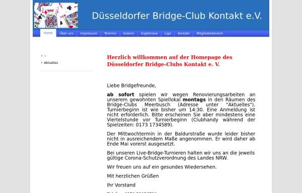 Vorschau von bridgeclub-kontakt.de, Düsseldorfer Bridge-Club Kontakt e.V.