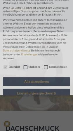 Vorschau der mobilen Webseite www.dachschmuck-shop.de, Kunsthaus Bodenmais, Erich Ebnet