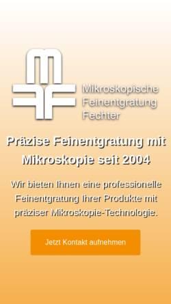 Vorschau der mobilen Webseite www.mikroskopische-feinentgratung.de, Mikroskopische Feinentgratung Fechter, Inh. Anita Fechter