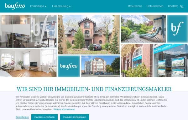 Vorschau von www.baufino-immobilien.de, Baufinanzberatung Nord GmbH