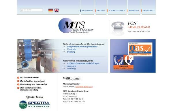 Vorschau von www.mts-insitu.com, MTS - Kasulke & Rohde GmbH