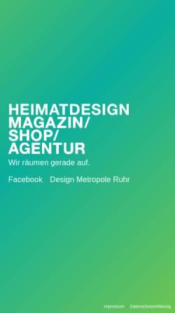 Vorschau der mobilen Webseite www.heimatdesign.de, Heimatdesign - Magazin, Shop + Agentur