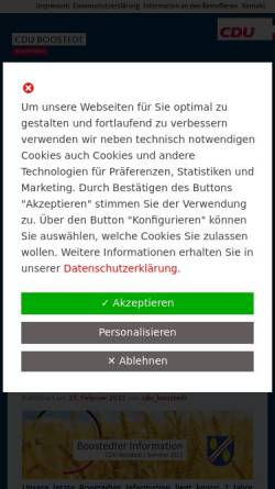 Vorschau der mobilen Webseite www.cdu-boostedt.de, CDU Ortsverband Boostedt