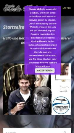 Vorschau der mobilen Webseite kockis-airbrush.de, Kockis Airbrush and Bodypainting, Kay Kock