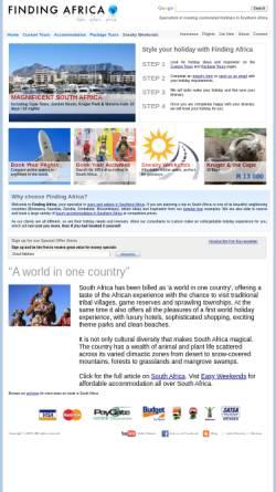 Vorschau der mobilen Webseite www.findingafrica.com, Findingafrica.com