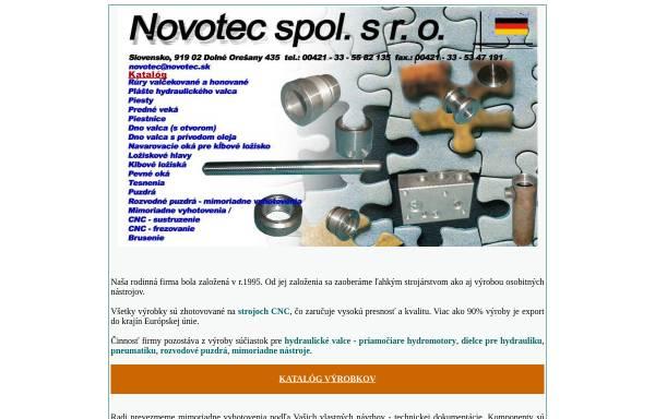 Vorschau von www.novotec.sk, Novotec spol. s r.o.