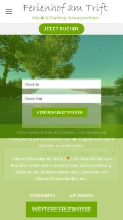 Vorschau der mobilen Webseite www.ferienhof-bad-saarow.de, Ferienhof am Trift
