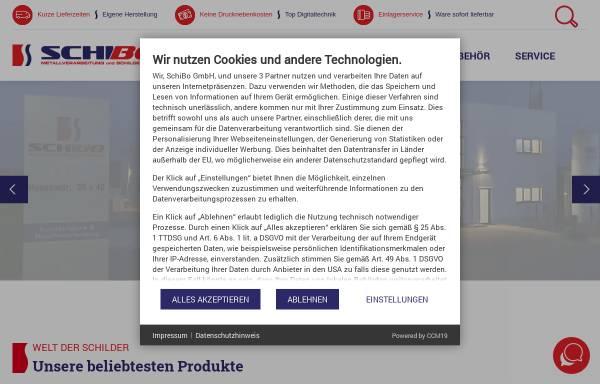 Vorschau von www.schilderfabrik-bohn.de, SchiBo GmbH - Schilderfabrik Bohn