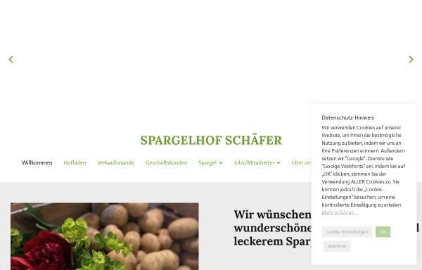 Vorschau von www.spargelhof-schaefer.de, Spargelhof Schäfer, Karl Schäfer